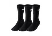 Nike Value Cotton Crew 3 Pary Czarne - L