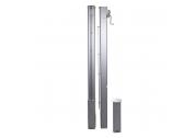Słupki Aluminiowy 80mm Kwadratowe z Tulejami